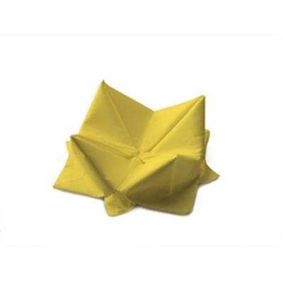 Frokostserviet, Duni, 1-lags, 1/4 fold, gul, papir, 33cm x 33cm