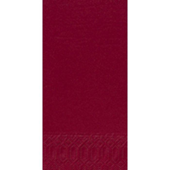 Frokostserviet, Duni, 3-lags 1/8 fold, bordeaux, papir, 33cm x 33cm