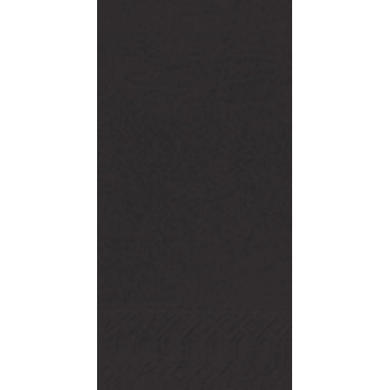 Frokostserviet, Duni, 3-lags 1/8 fold, sort, papir, 33cm x 33cm *Denne vare tages ikke retur*