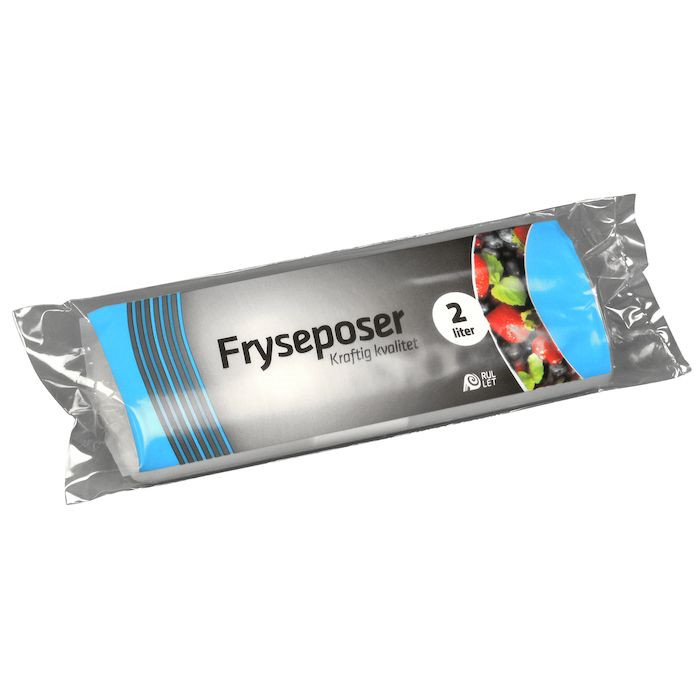 Frysepose, Rul-let, LDPE, 36 my, 15x34 cm, 2 l, 30stk/rl.