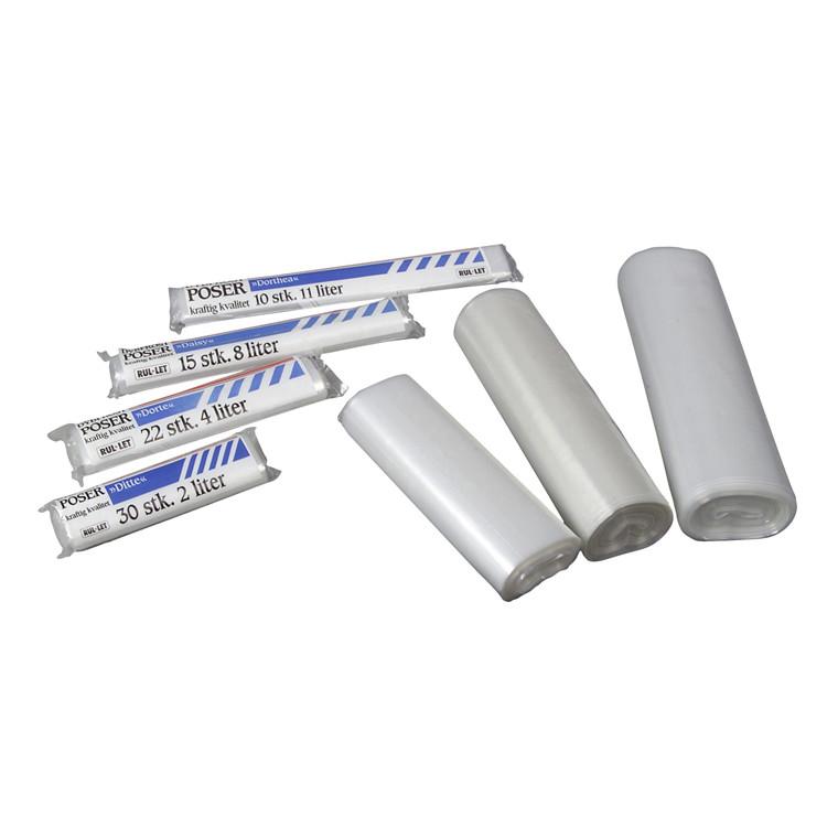 Fryseposer 250 x 400 mm 5 liter med skrivefelt - 100 poser pr. rulle