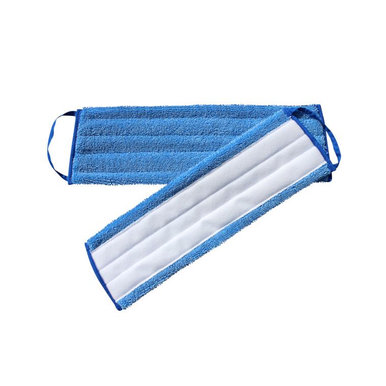 Fugtmoppe, blå, polyester/mikrofiber, 40 cm, med velcro