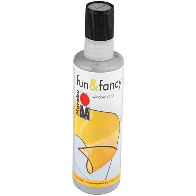 Fun & Fancy - konturfarve, sølv, 80 ml