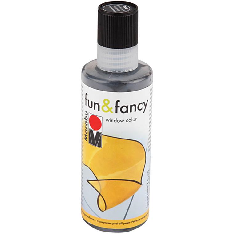 Fun & Fancy - konturfarve, sort, 80ml