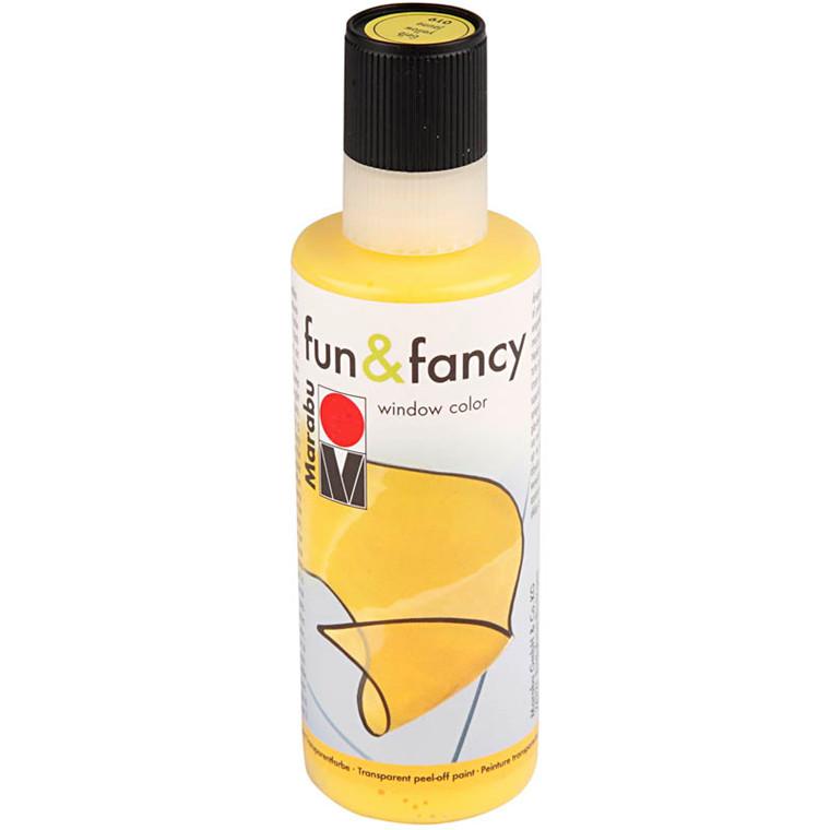 Fun & Fancy Vinduesmaling, gul, 80 ml