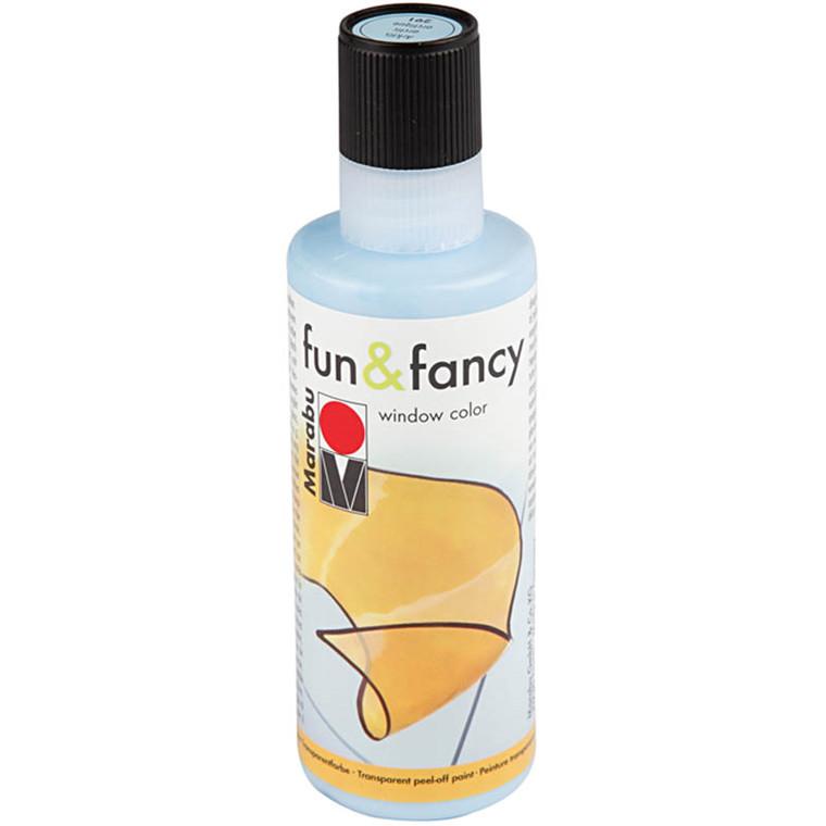 Fun & Fancy Vinduesmaling, isblå, 80 ml