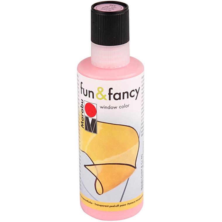 Fun & Fancy Vinduesmaling, lys rosa, 80 ml