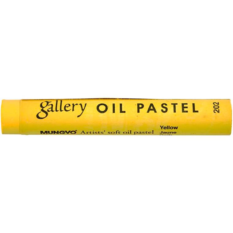 Gallery oliepastel premium, tykkelse 11 mm, gul (202), 6 stk.