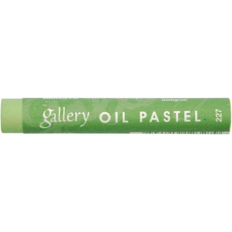 Gallery oliepastel premium, tykkelse 11 mm, gulgrøn (227), 6 stk.