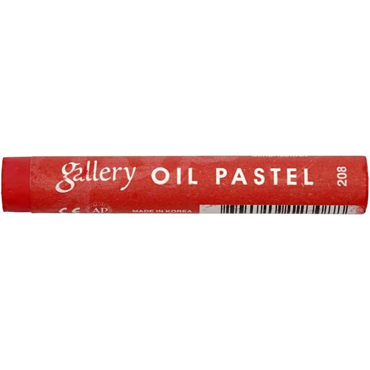 Gallery oliepastel premium, tykkelse 11 mm, karminrød (208), 6 stk.