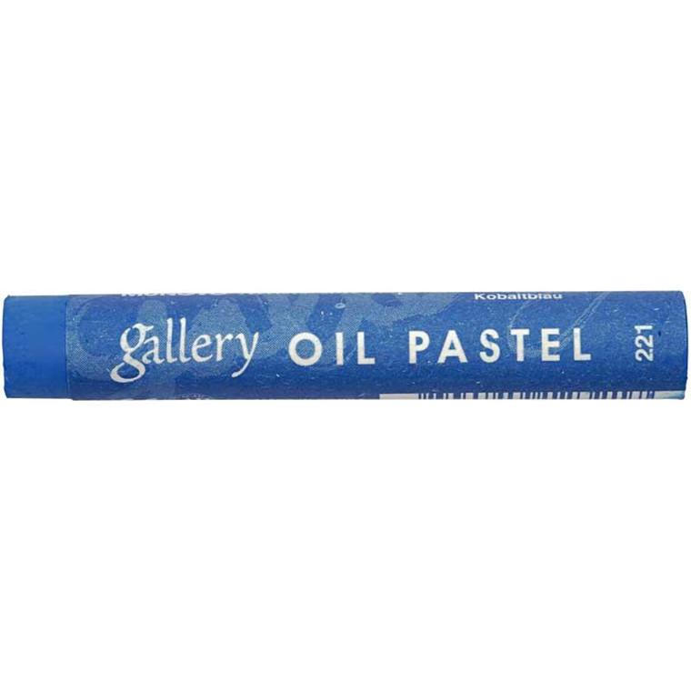 Gallery oliepastel premium, tykkelse 11 mm, kobolt blå (221), 6 stk.
