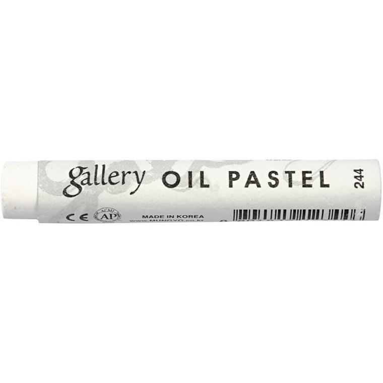 Gallery oliepastel premium, tykkelse 11 mm, L: 7 cm, hvid (244), 6stk.