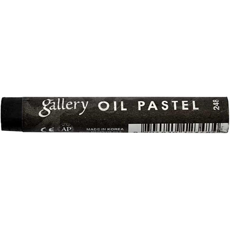 Gallery oliepastel premium, tykkelse 11 mm, L: 7 cm, sort (248), 6stk.