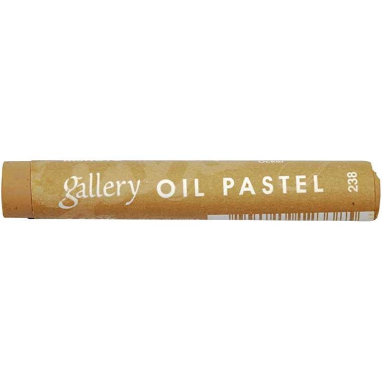 Gallery oliepastel premium, tykkelse 11 mm, okker (238), 6 stk.