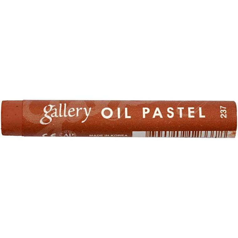 Gallery oliepastel premium, tykkelse 11 mm, rødbrun (237), 6 stk.
