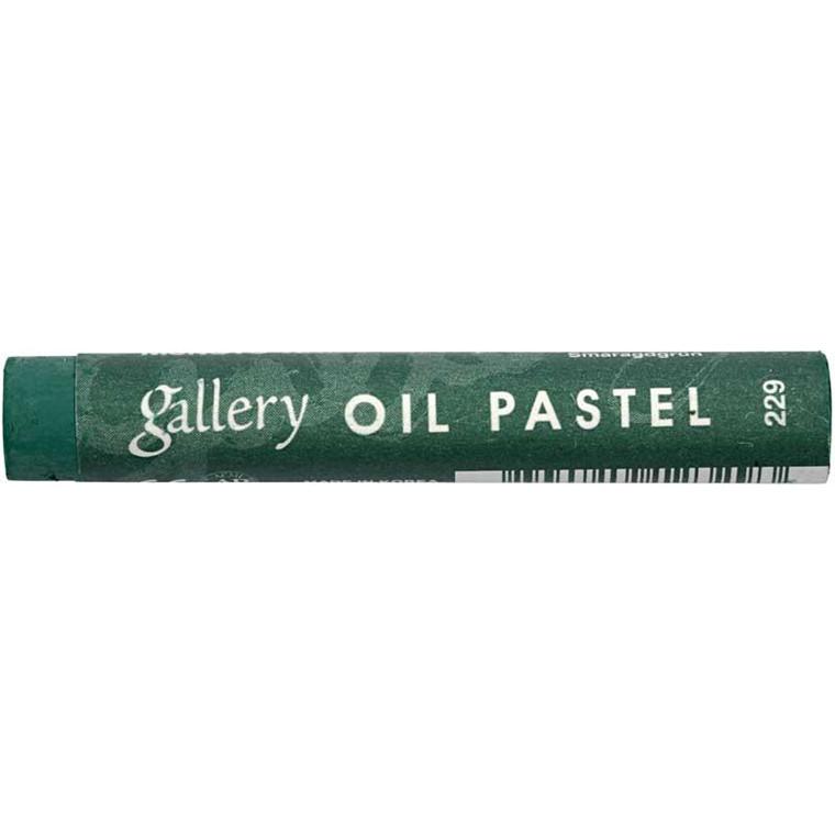 Gallery oliepastel premium, tykkelse 11 mm, smaragdgrøn (229), 6 stk.
