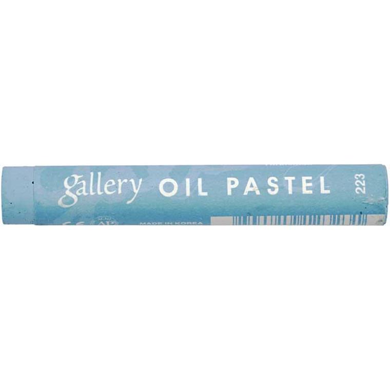 Gallery oliepastel premium, tykkelse 11 mm, turkisblå (223), 6 stk.