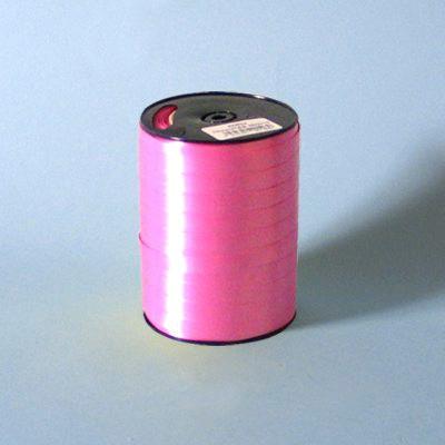 Gavebånd - i glat pink 10 mm x 250 meter, nr. 46, 5 ruller i pakken