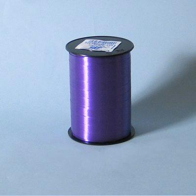 Gavebånd - i glat mørk lilla 10 mm x 250 meter, 5 ruller i en pakke, nr. 49