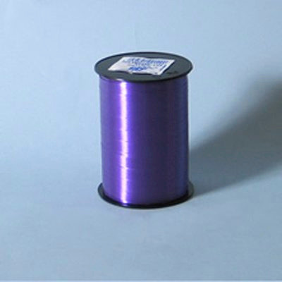 Gavebånd - i glat mørkelilla 5 mm x 500 meter, 5 ruller i en pakke, nr. 49-5