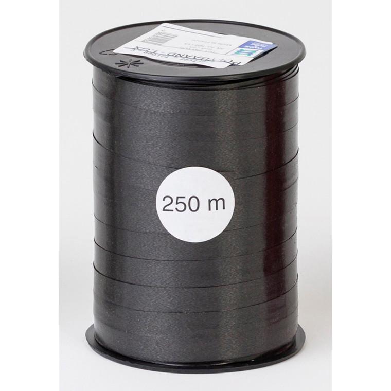 Gavebånd - i glat sort 1 cm x 250 meter, 5 ruller i pakken, nr. 23