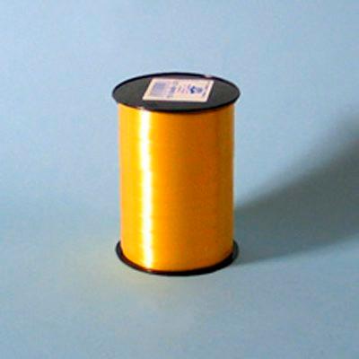Gavebånd - i guld glat nr. 06,  5 mm x 500 m 5 ruller i pakken