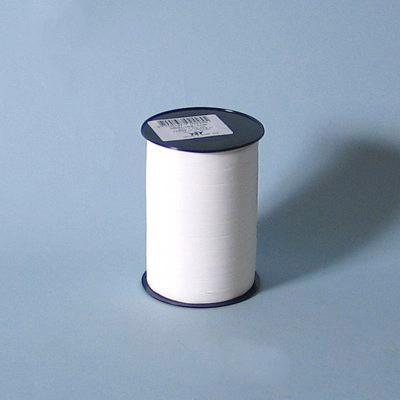 Gavebånd - i mat hvid 10 mm x 250 meter. nr. 51 5 ruller i pakken