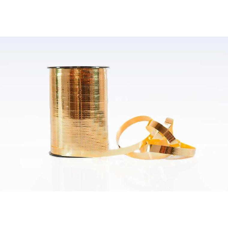 Gavebånd i metallic guld - mål 10 mm x 250 meter
