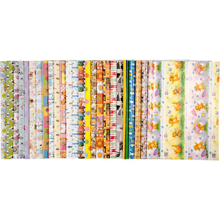Indpakningspapir i ark 52 x 75 cm, 80 g | 50 assorteret ark