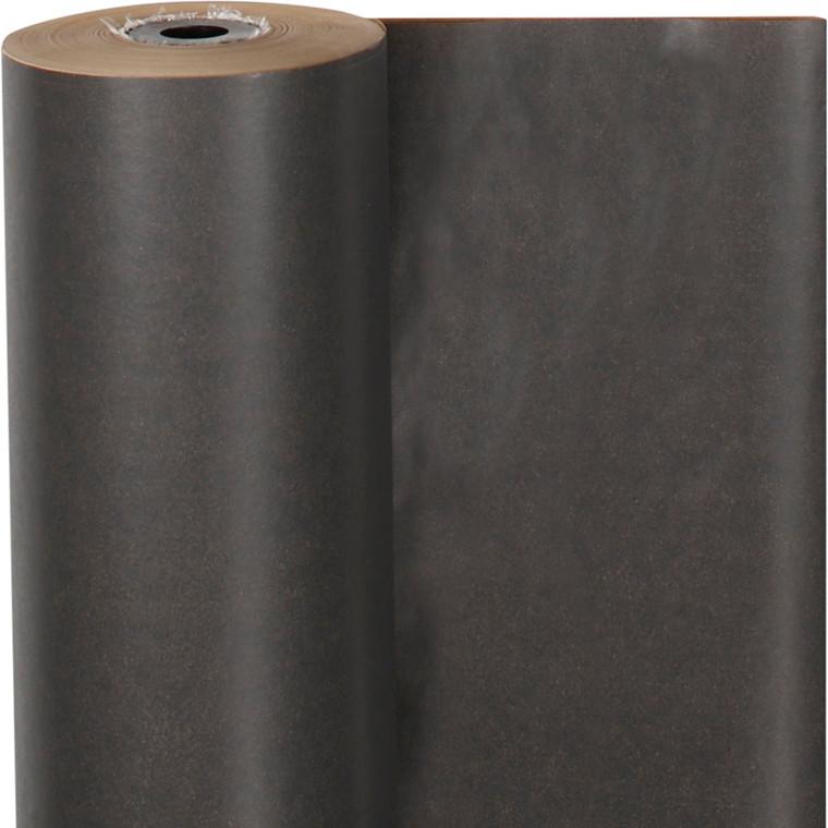 Gavepapir bredde 50 cm 60 gram mørk grå   100 meter