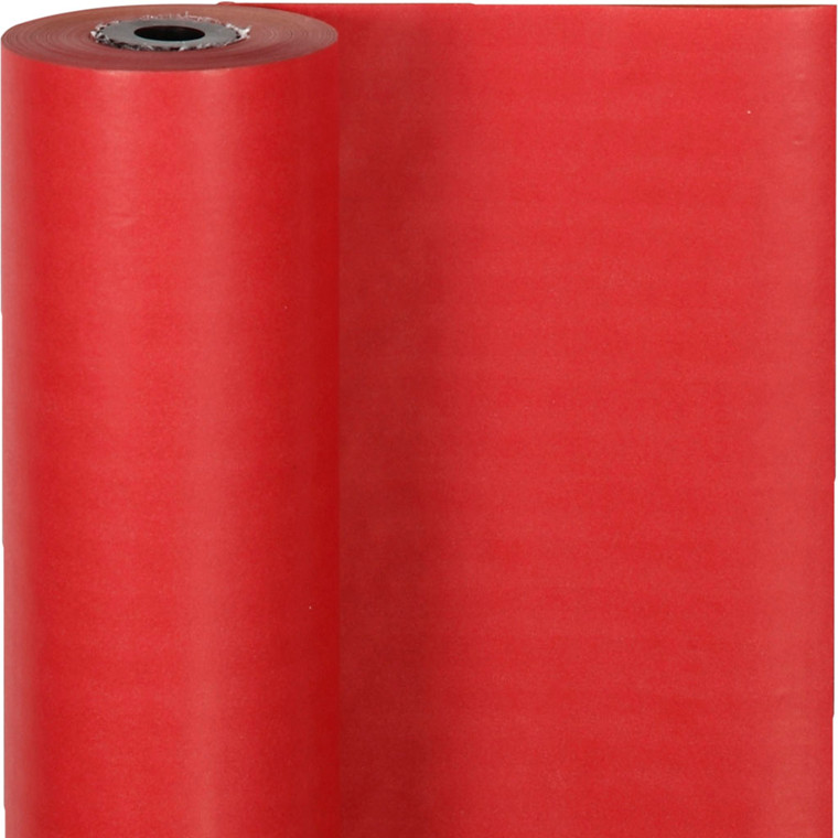 Gavepapir bredde 50 cm 60 gram rød | 100 meter