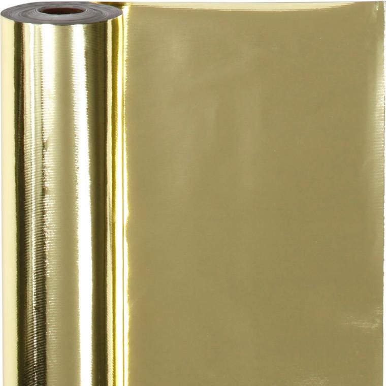 Gavepapir metallisk guld 65 gram, Bredde 50 cm   100 meter