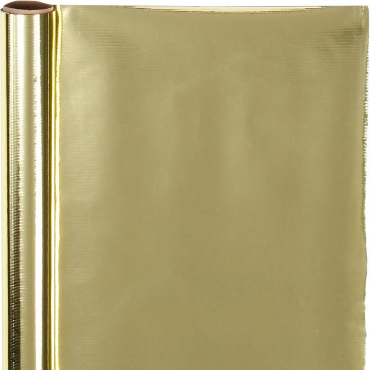 Gavepapir guld Bredde 50 cm, 65 gram - 4 meter