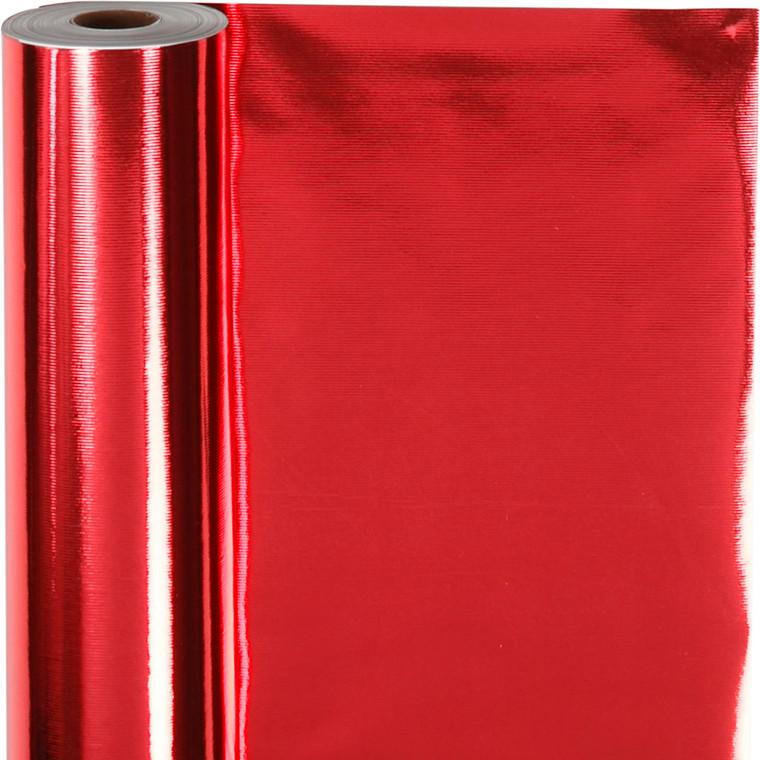 Gavepapir rød 65 gram, Bredde 50 cm   100 meter