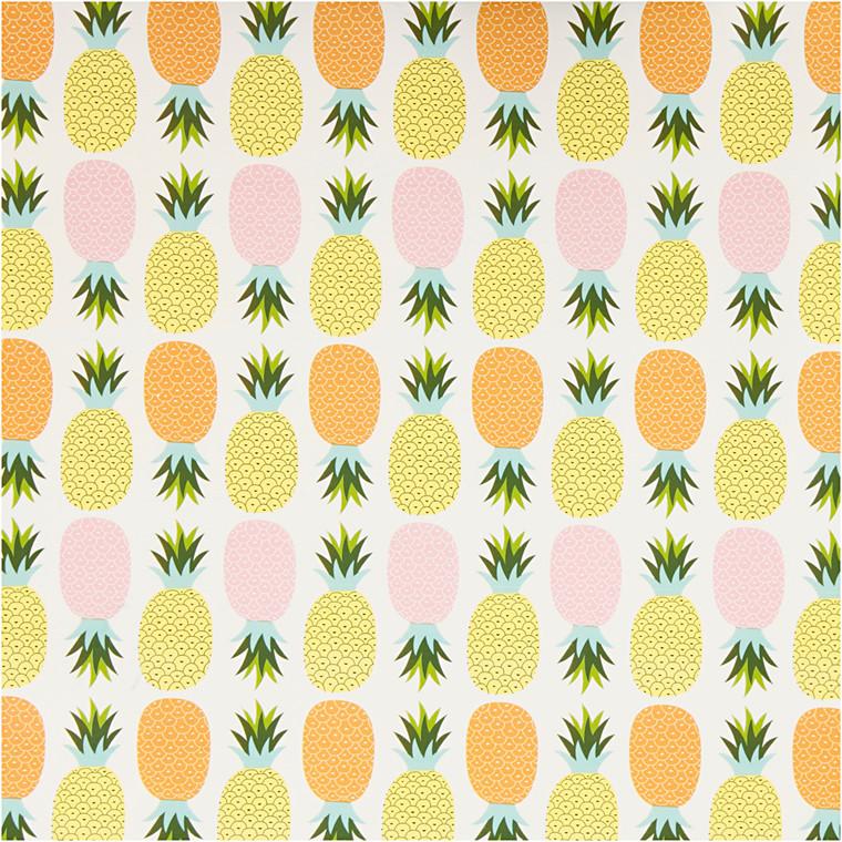 Gavepapir bredde 50 cm ananas | 5 meter