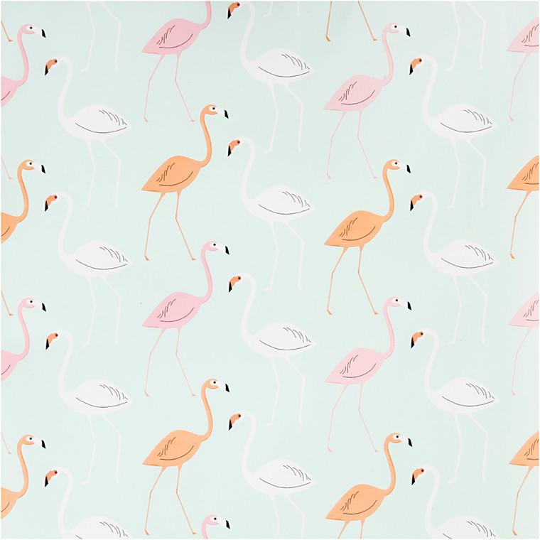 Gavepapir bredde 50 cm flamingo | 5 meter