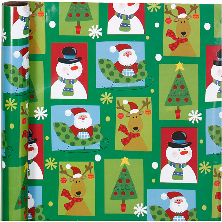 Gavepapir bredde 70 cm 80 gram firkantet jul | 4 meter