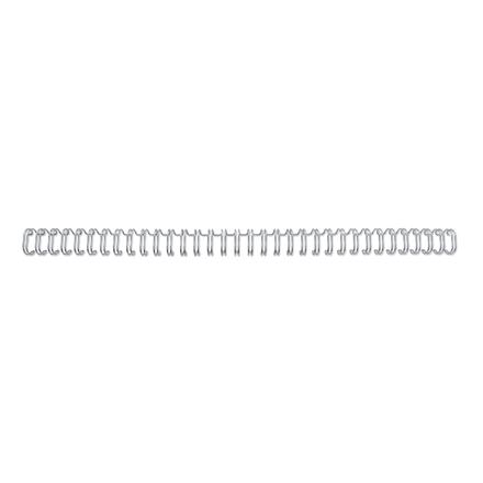 GBC Wire ryg 3:1 NO4 6mm A4 sølv (100)