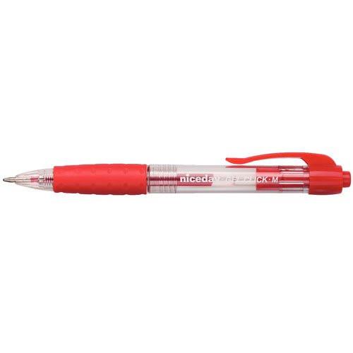 Gelpen niceday med trykmekanisme - Rød streg 0,4 mm 1624210