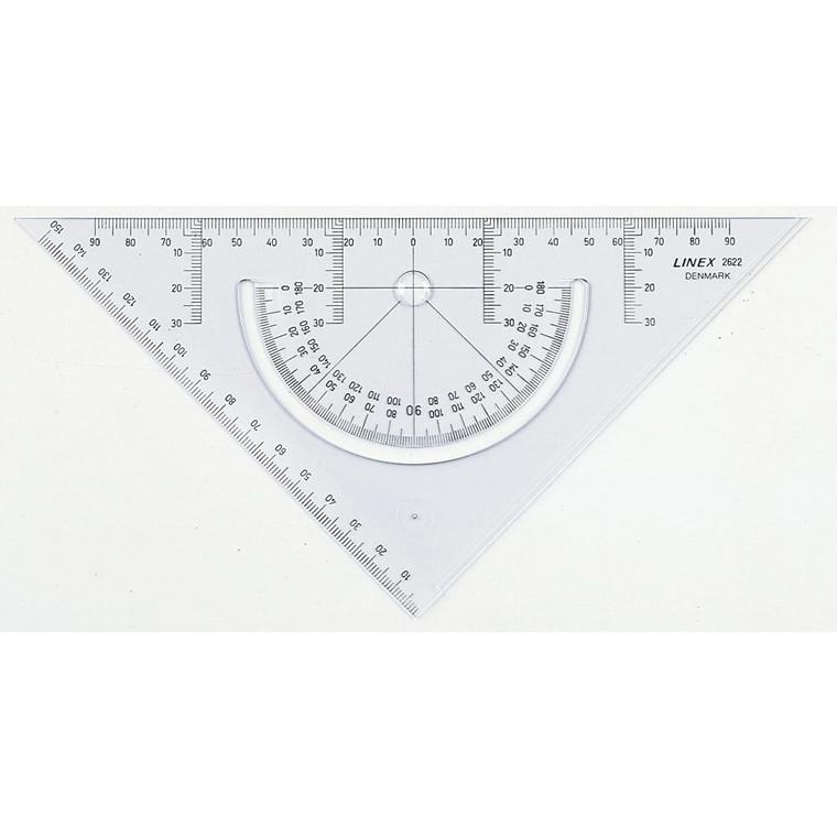 Geometritrekant med vinkelmåler - Linex 2622