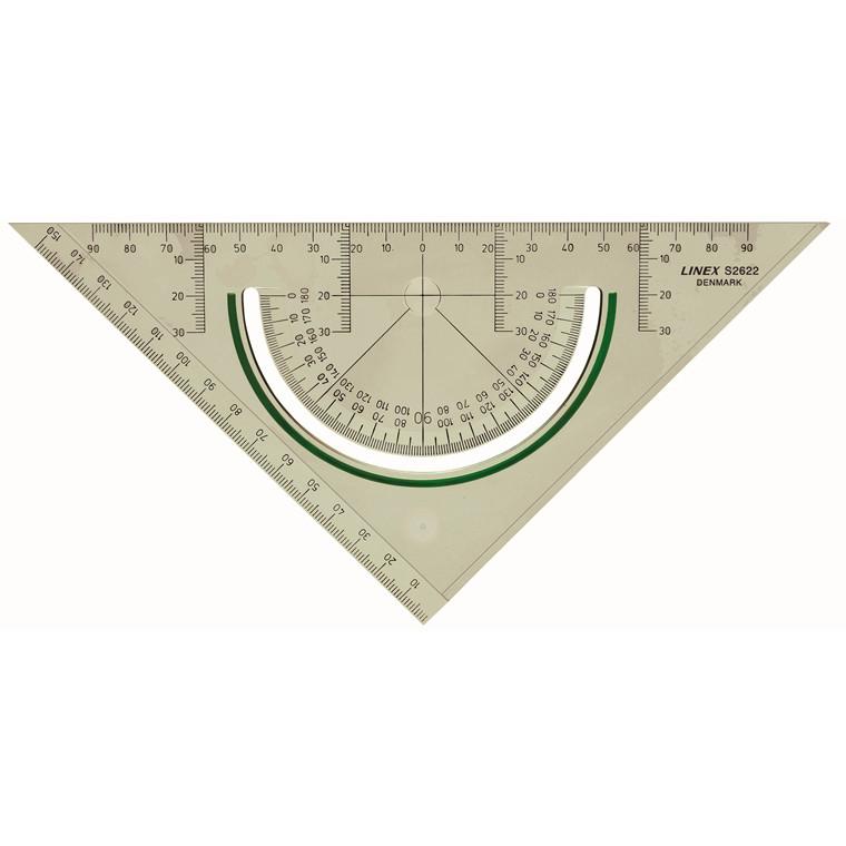 Geometritrekant Linex S2622 m/vinkelmåler