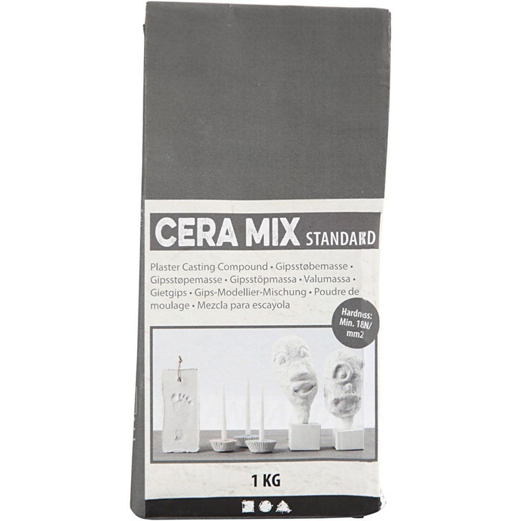 Gips Cera-Mix Lys grå - Standard modelgips 1 kg