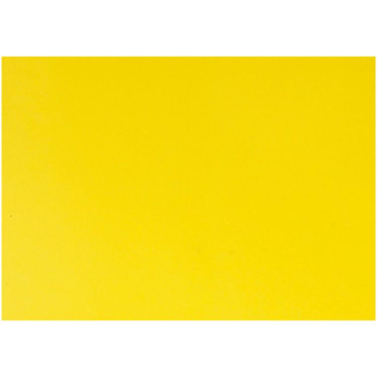 Glanspapir gul størrelse 32 x 48 cm 80 gram - 25 ark