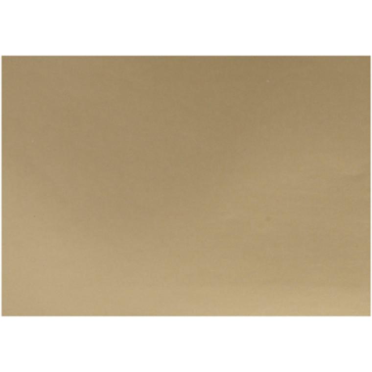Glanspapir guld størrelse 32 x 48 cm 80 gram - 25 ark