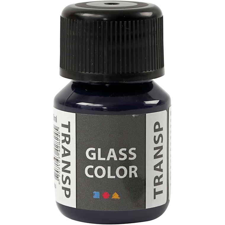 Glass Color Transparent, marineblå, 35ml