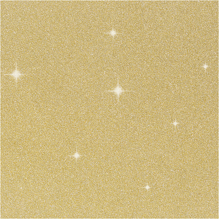 Glitterfilm bredde 35 cm tykkelse 110 my guld Copenhagen   2 meter