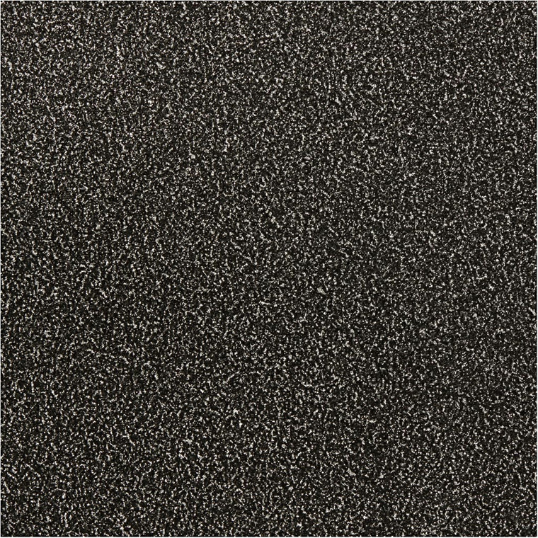 Glitterfilm sort Vivi Gade Paris Bredde 35 cm Tykkelse 110 my   2 meter