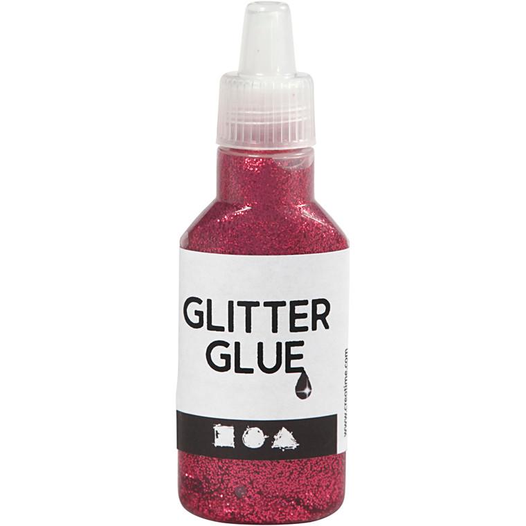 Glitterlim, pink, 25ml