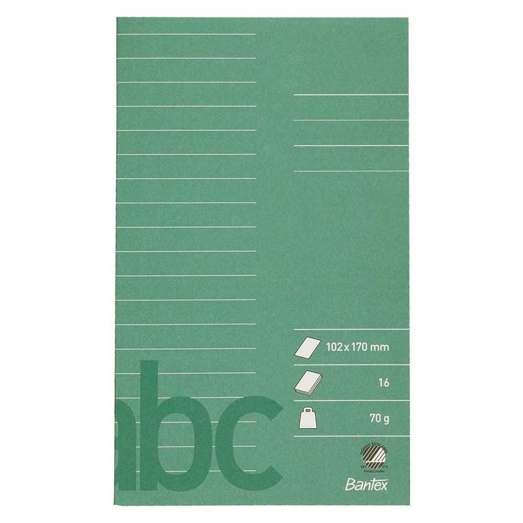 Glosehæfte Bantex 102x170mm lin 16bl 70g mørkegrøn