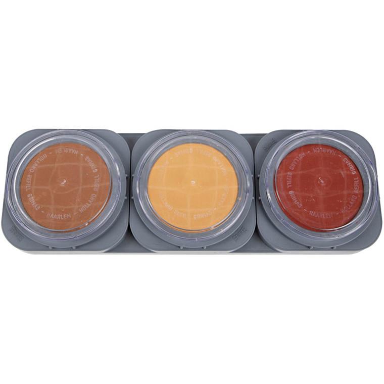 Ansigtsmaling - Grimas - palette - cake make-up - 3 x 35 g